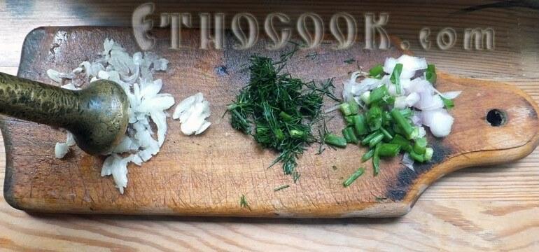 2. Prepare garlic and onion