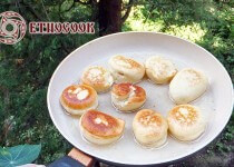 Traditional Ukrainian Donuts Pampushky z makom