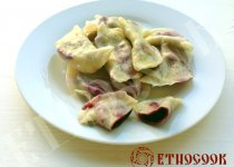Recipe of Ukrainian Dumplings with berries